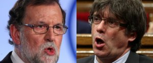 Rajoy (izq) vs Puigdemont (der)