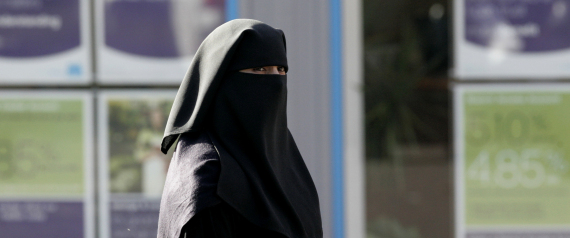 A VEILED WOMAN IN EUROPE