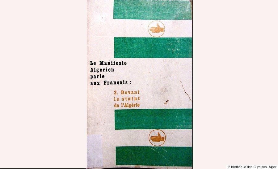 couverture brochure le manifeste algérien