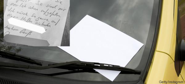 Frau findet Zettel an Windschutzscheibe - und rechnet schon mit dem Schlimmsten