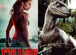 Δεν είναι δεινόσαυρος, δεν είναι κροταλίας, είναι ο λαιμός της Alicia Vikander στη νέα αφίσα του «Tomb Raider»