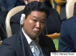 '북한 파괴' 연설을 맨앞에서 본 이 남성의 정체