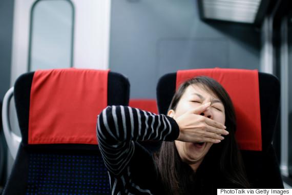yawning airplane