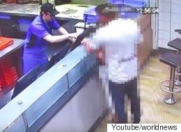피자 가게에서 섹스한 커플에게 벌어진 일(동영상)