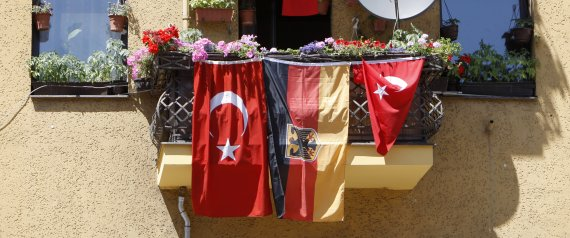 BERLIN TURKISH GERMAN FLAG