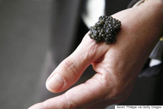 caviar hand