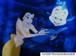 디즈니 여주인공들이 '애리얼'처럼 모두 인어였다면?
