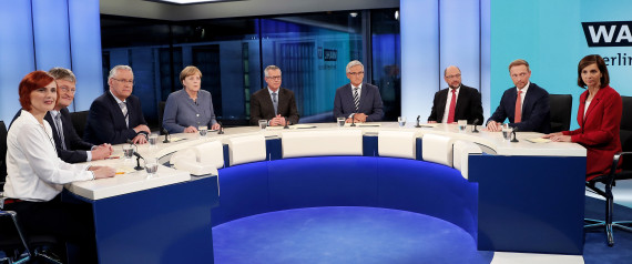 GERMAN CANDIDATES TELEVISION