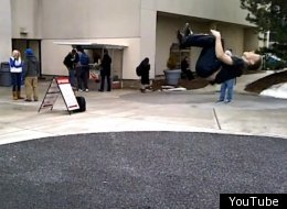 Backflipping Teen