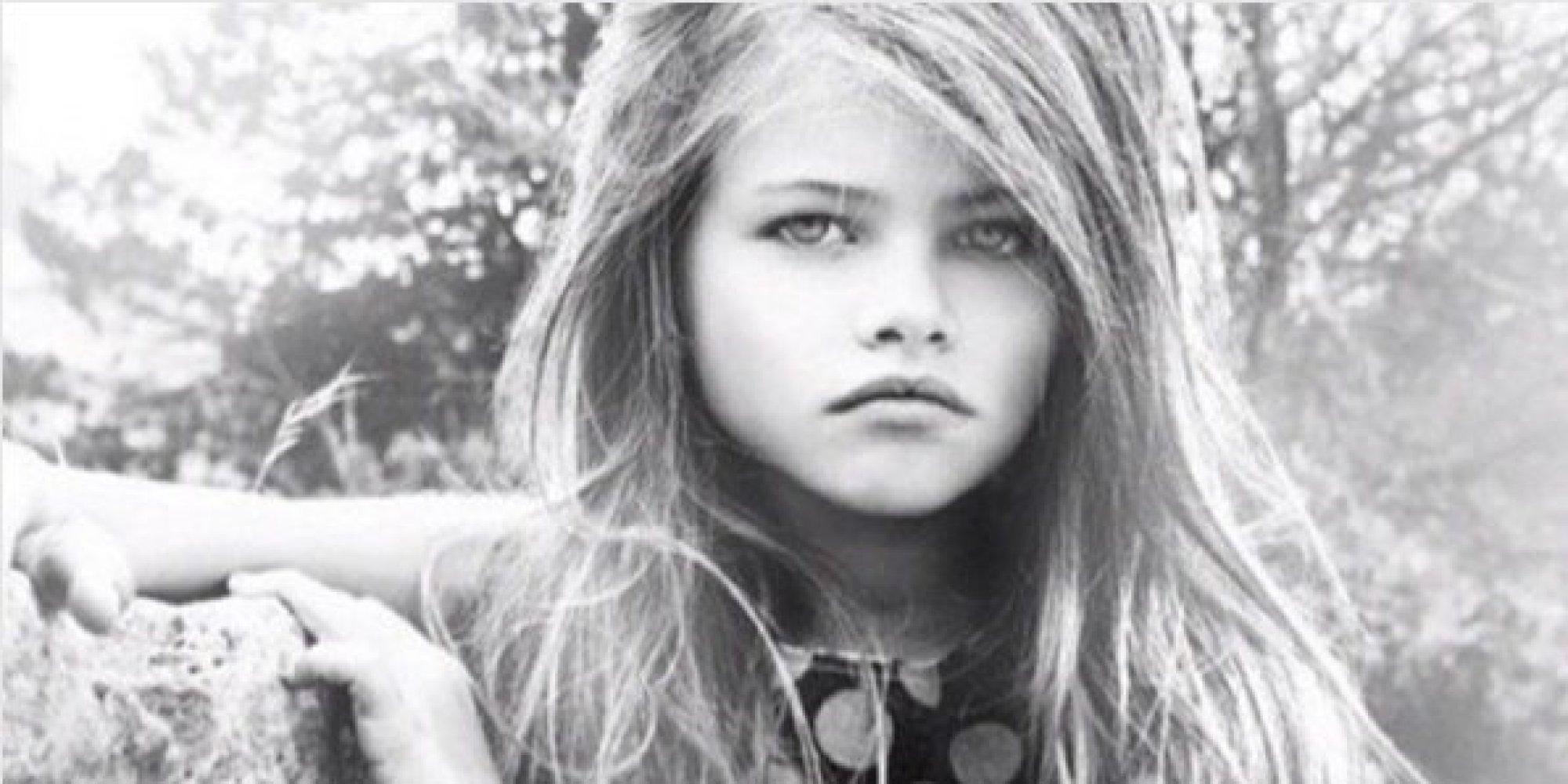 la plus belle petite fille au monde a d sormais 16 ans et d file pour d g. Black Bedroom Furniture Sets. Home Design Ideas