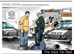Trayvon Martin Racist Cartoon Protest
