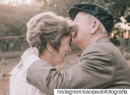 이 노부부는 최근 생애 첫 결혼 사진을 찍었다(화보)