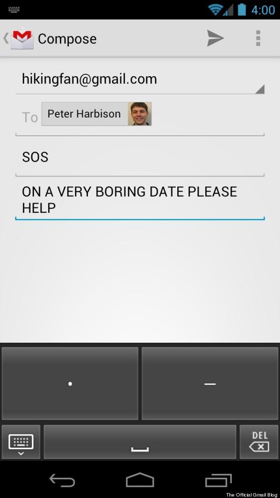 Gmail Tap: Google Announces Morse Code Keyboard Alternative