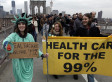 Occupy Wall Street Protesters March Over Brooklyn Bridge For Six Month Anniversary
