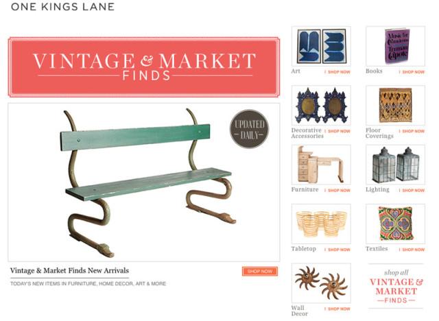 90d9bdc4f63ac One Kings Lane Launches New Online Vintage Shop