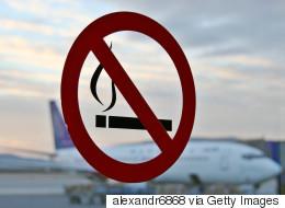 가장 많이 발생하는 항공기 내 불법행위는 흡연