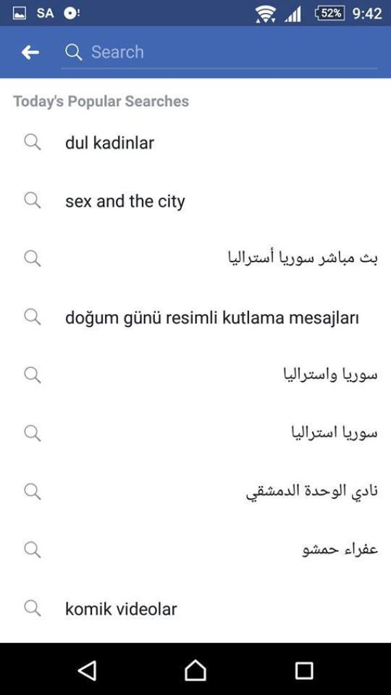 facebook search turkey
