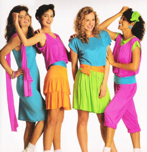 80s fashion neon