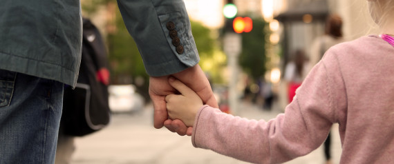FATHER AND DAUGHTER WALKING