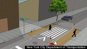 Midtown manhattan may link 6 block corridor for pedestrians to stroll