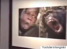 중국의 한 미술관이 아프리카인을 동물과 비교했다