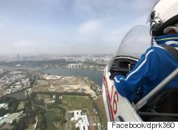 '세계 최초'로 평양 상공에서 찍은 360° 영상