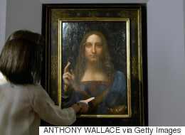 Μυστήριο με την κρυστάλλινη σφαίρα του Χριστού σε πίνακα του Λεονάρντο ντα Βίντσι