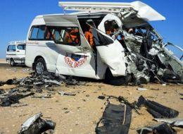 مصرع 15 شخصاً في حادث سير جنوبي مصر