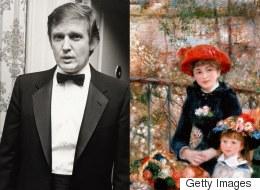 트럼프가 '가짜' 르누아르 그림을 자랑하는 사연