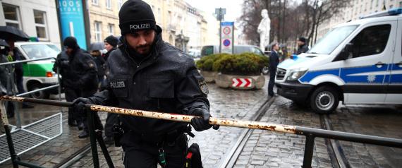 GERMAN POLICE IN MUNICH