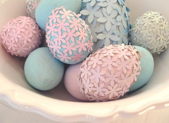 Easter craft ideas make paper flower easter eggs huffpost photo by jessica enig of such pretty things negle Image collections