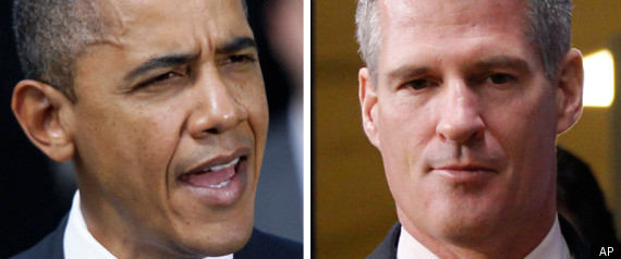 SCOTT BROWN BARACK OBAMA