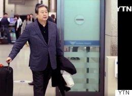 '노룩패스' 5개월후, 달라진 김무성의 입국 풍경
