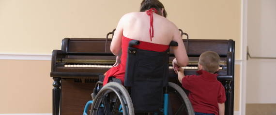 WOMAN IN WHEELCHAIR PIANO