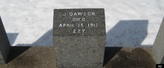 TITANIC J DAWSON GRAVE
