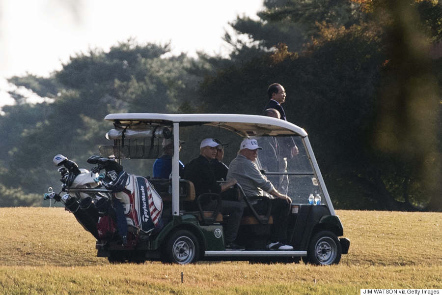 shinzo abe trump golf