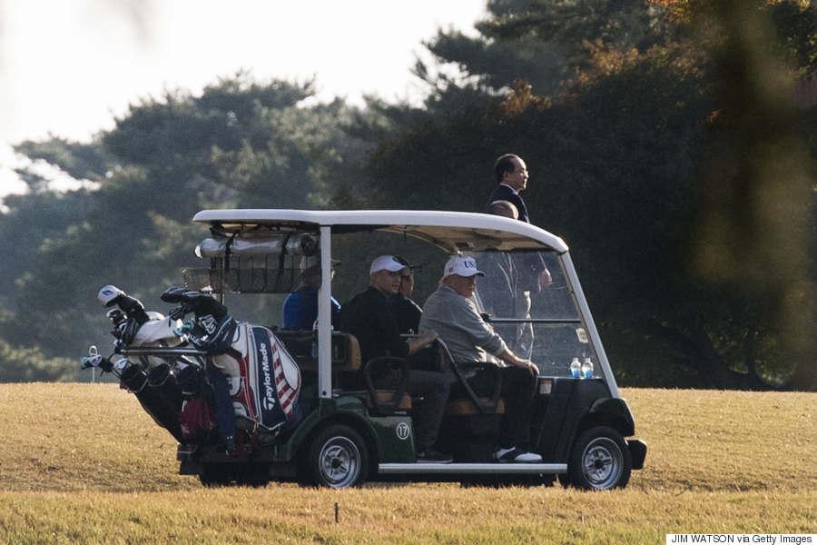 shinzo abe trump golf