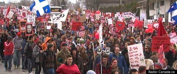 Manifestation Sherbrooke