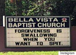 '용서'에 대한 이 교회 간판이 문제가 된 이유