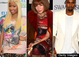 Nicki Minaj Anna Wintour And Kanye West