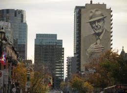 Το Μόντρεαλ τίμησε τον Leonard Cohen με μια τεράστια τοιχογραφία-πορτρέτο στο κέντρο της πόλης