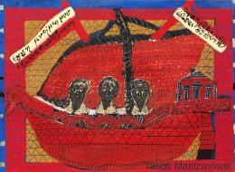 Παίζουμε φιδάκι; Στη νέα του έκθεση ο Τάσος Μαντζαβινός «διασκεδάζει» τη μοναξιά μέσα από το παιχνίδι