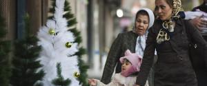 Woman With Headscarf Christmas