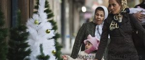WOMAN WITH HEADSCARF CHRISTMAS