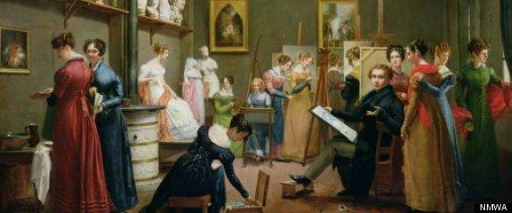 national museum of women in arts presents royalists to r tics adrienne marie louise grandpierre deverzy ldquothe studio of abel de pujolrdquo