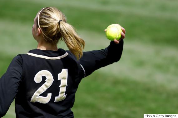 baseball teen girl