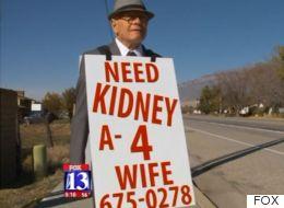아내의 신장 기증을 위해 매일 거리를 남자