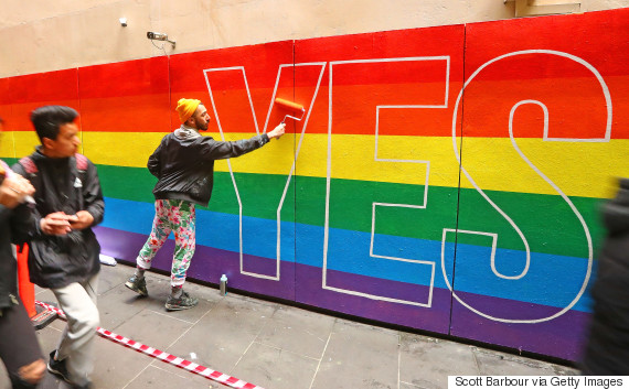 australia marriage mural