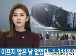 세월호 유족 철수 소식을 전하던 아나운서는 울먹였다