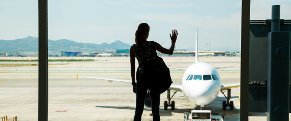 AIRPLANE AIRPORT WOMAN WINDOW